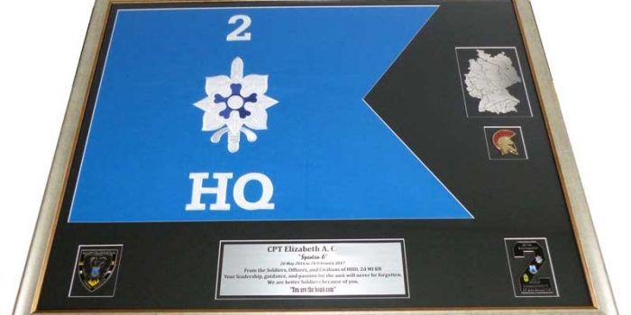 Framing Frame Shop Guidon Embroidery Engraving 2d MI BN