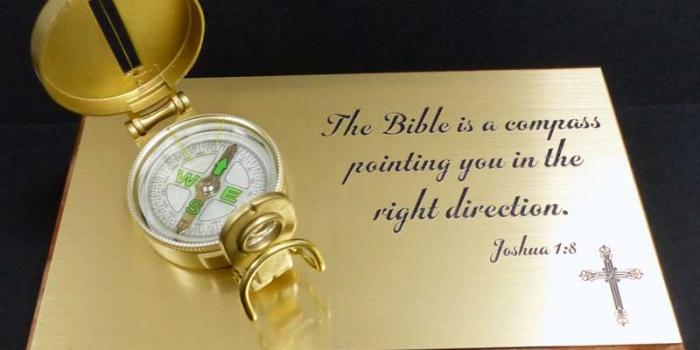Bible Compass Desk Set