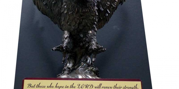 Eagle Large on Base with engraving