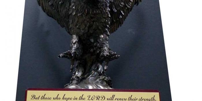 Eagle Large on Base with engraving