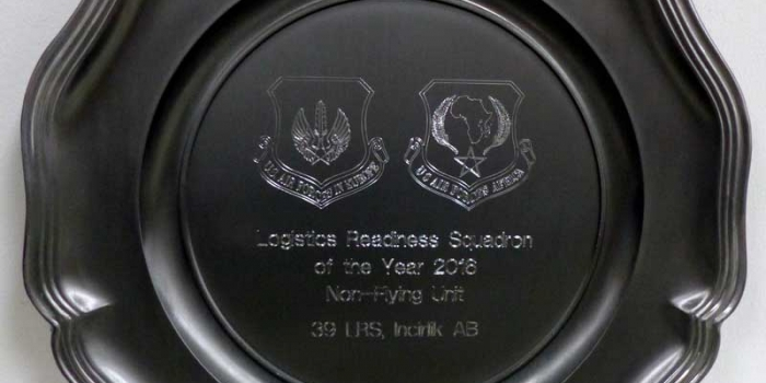 USAFE AFAFRICA Annual Award Plate engraving