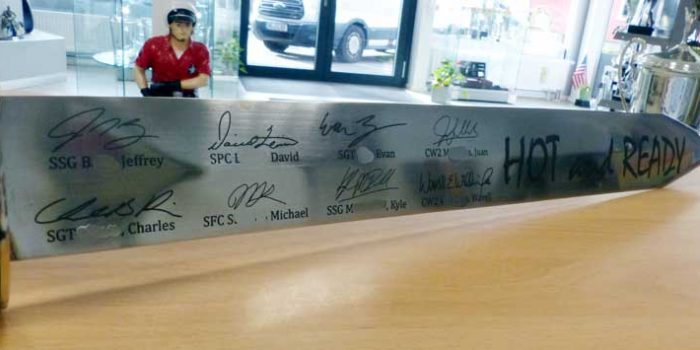 Sword Engraving Schwertgravur Signature Engraved Team Kulbick is Awesome