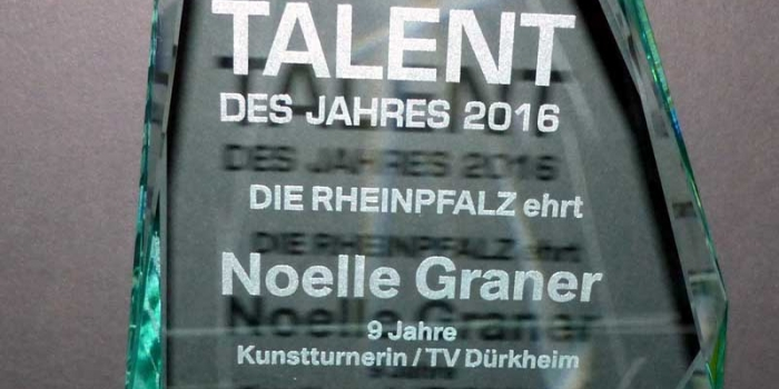 Talent des Jahres 2016 Sponsored by Die Rheinpfalz