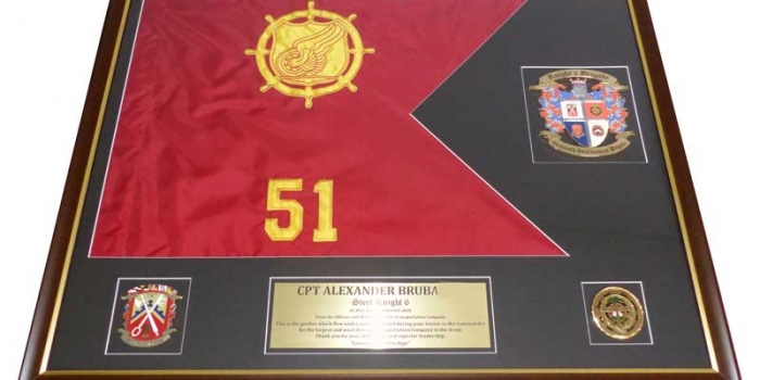 Framing Guidon Embroidery by Trophy Center