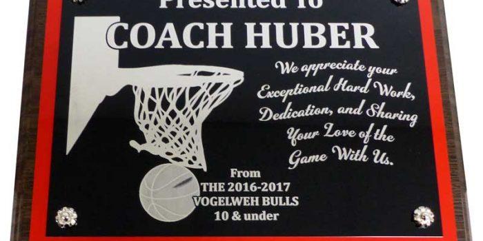 Vogelweh Bulls Basketball Plaque