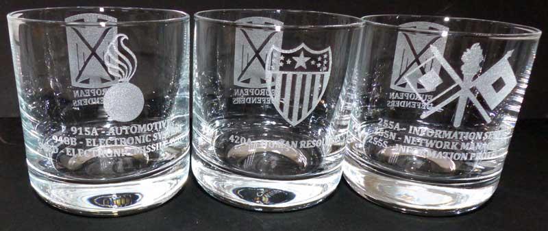 Glass Engraving Us Army Glasgravur Kaiserslautern Trophy