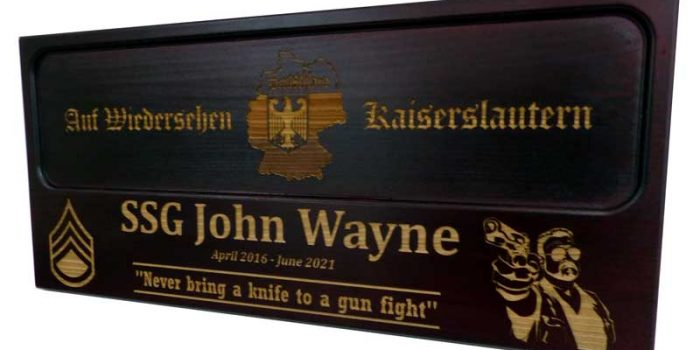 License Plate Plaque Full Engraved