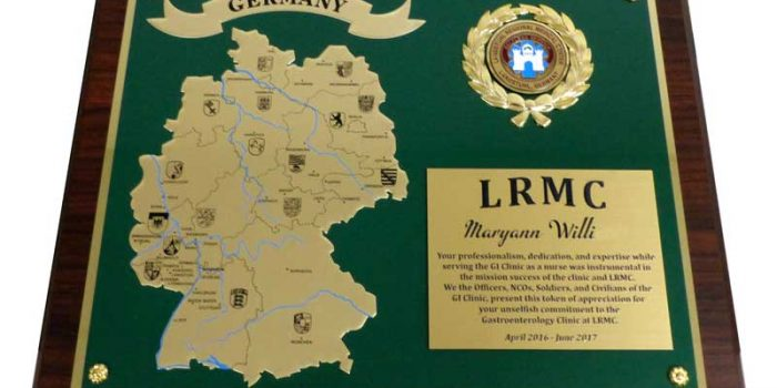 LRMC Germany Plaque Engraved Engraving