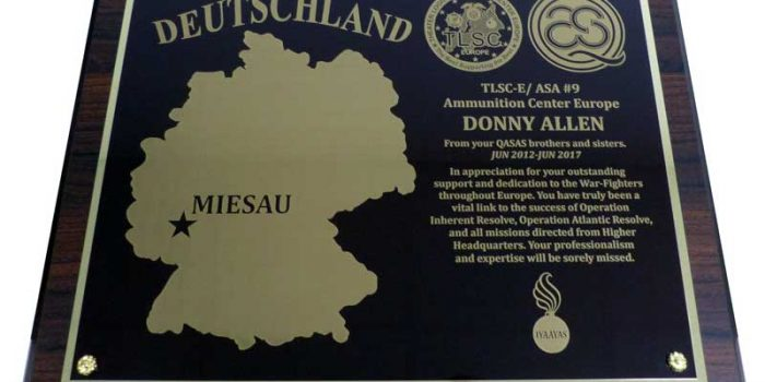 Germany Plaque Engraving