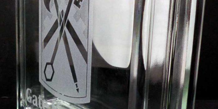 Glass Brick Engraving