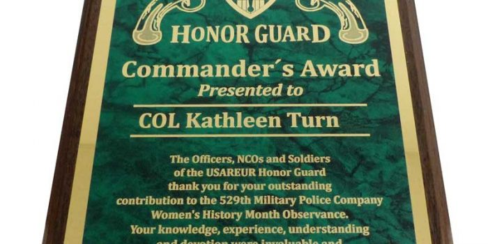 Honor Guard Plaque Engraving