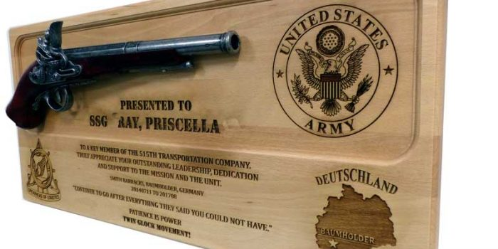 License Plate Pistol Plaque Engraved Engraving