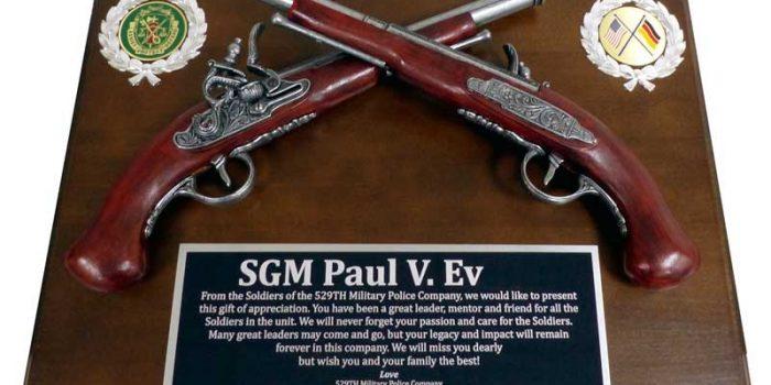 Pistol Plaque Engraving