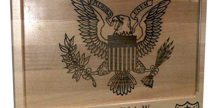 7 MSC An Ocean Closer Townboard Wood Engraved Engraving Holzgravur