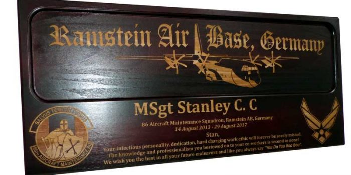 Ramstein Air Base Aircraft Plane Engraving Engraved