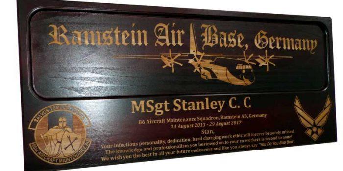 Ramstein Air Base Aircraft Plane Engraving Engraved
