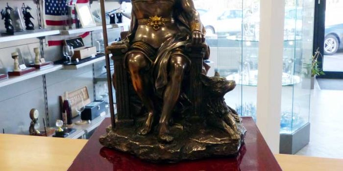 Odin Viking Statue on Base Trophy Shop Frameshop Embroidery Coins