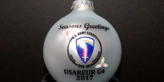 Christmas Ornaments Printed USAREUR US Army