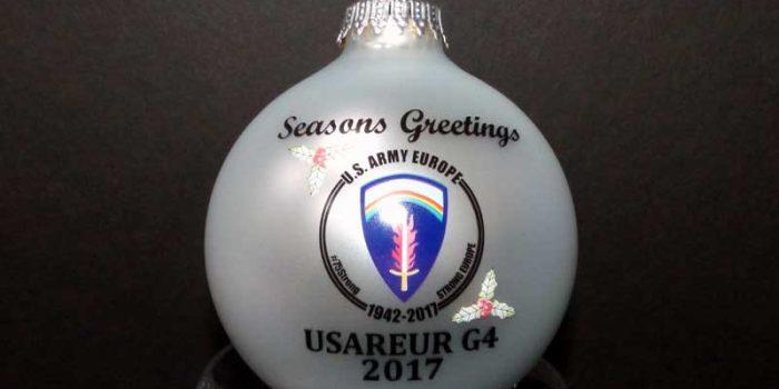 Christmas Ornaments Printed USAREUR US Army