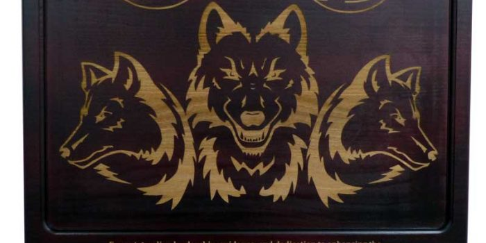 Townboard Plaque Full Engraved Wolfpack US Army Europe