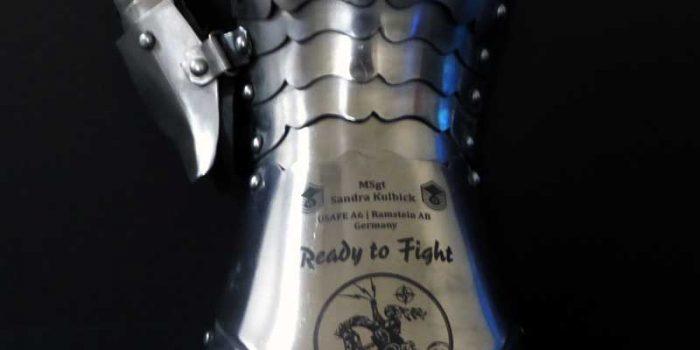 Glove Gauntlet Engraved USAF USAFE Engraving Trophy Center Kaiserslautern