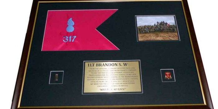 Frame Shop Framing Guidon Embroidery Coins