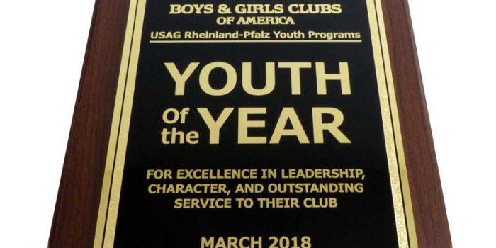 USAG Rheinland-Pfalz Youth of the Year