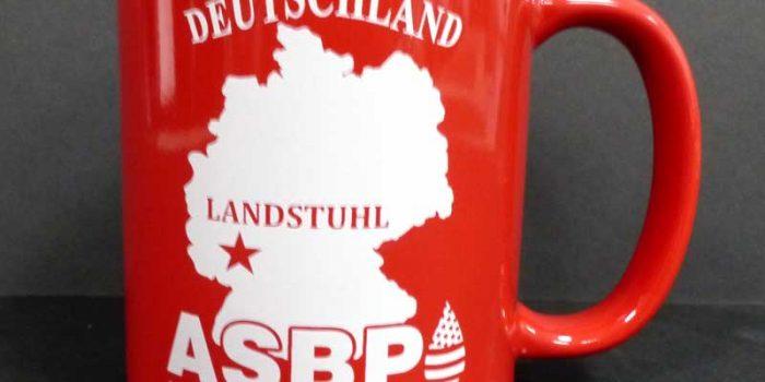 Printed Mugs ASBP Armed Services Blood Program Trophy Center Trophy Shop Frame Shop