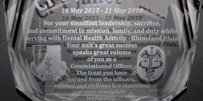 CLB 20 XL Crystal Glass Award Medical Dental Health Activity Trophy Center Trophy Shop Frame Shop