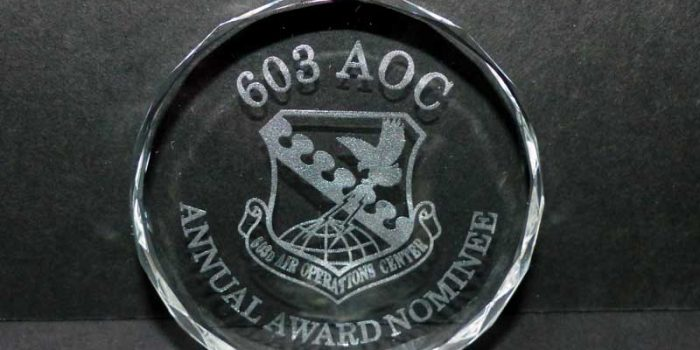 603 AOC Annual Awards Nominee | Trophy Center | Trophy Shop Kaiserslautern Ramstein Air Base Engraving Frame Shop Coins Stamps Embroidery Guidons Awards Plaques Engraver Graveur Gravur Graviert Eingraviert | Sandra & J.R. Kulbick 3rd Generation of Professional Engravers Est. 1952 | Only in Kaiserslautern-Einsiedlerhof underneath Hacienda Mexican Restaurant |