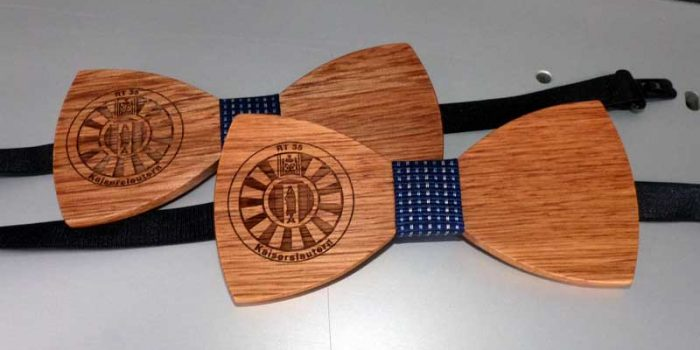 Wooden Bow Tie | Trophy Center | Trophy Shop Kaiserslautern Ramstein Air Base Engraving Frame Shop Coins Stamps Embroidery Guidons Awards Plaques Engraver Graveur Gravur Graviert Eingraviert | Sandra & J.R. Kulbick 3rd Generation of Professional Engravers Est. 1952 | Only in Kaiserslautern-Einsiedlerhof underneath Hacienda Mexican Restaurant |