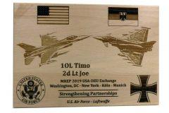 Luftwaffe-USAF-Plakette
