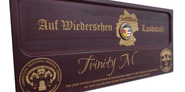 LRMC License Plate Plaque NO CHARGE PER LETTER / NO CHARGE PER LOGO | Trophy Center | Sandra & J.R. Kulbick | Only in Kaiserslautern | Est. 1952 | Trophy Shop | 2 MILES FROM RAMSTEIN AIR BASE | Engraving Frame Shop Coins Stamps Embroidery Guidons Awards Plaques Engraved Signs Messergravur Graveur Gravur Graviert | Kaiserslautern-Einsiedlerhof underneath Hacienda Mexican Restaurant | Messergravur Stempel Gravuren Pokale Trophäen Medaillen Schilder | US Army | US Air Force |  Nato | Bundeswehr | E-Mail: info@trophy-center.de