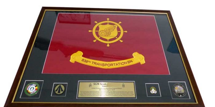 838th Transportation BN Frame SGM E9 US ARMY | Trophy Center | Sandra & J.R. Kulbick | Only in Kaiserslautern | Est. 1952 | Trophy Shop | 2 MILES FROM RAMSTEIN AIR BASE | Engraving Frame Shop Coins Stamps Embroidery Guidons Awards Plaques Engraved Signs Messergravur Graveur Gravur Graviert | Kaiserslautern-Einsiedlerhof underneath Hacienda Mexican Restaurant | Messergravur Stempel Gravuren Pokale Trophäen Medaillen Schilder | US Army | US Air Force |  Nato | Bundeswehr | E-Mail: info@trophy-center.de